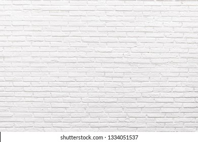 The Beautiful Soft Color of White Brick Wall Surface as Background, White brick wall Texture