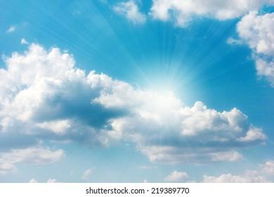beautiful solar sky and cloud as illustration season