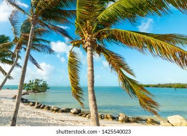 Beautiful Sombrero Beach in Florida Keys, USA