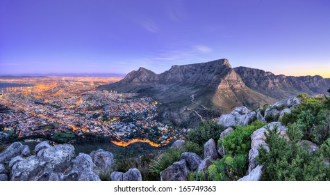 Beautiful South Africa's Cape Town's, Mountain and Sea views. Table Mountain, Lion's head and Twelve Apostles are popular hiking destinations for both locals and tourists all year round