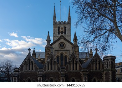 Beautiful Southwark Cathedral in Borough Market street
