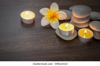 beautiful spa composition with candles