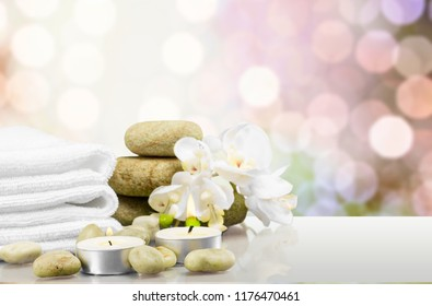 Beautiful spa composition isolated on white