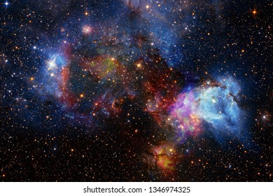 Beautiful space background. Cosmoc art. Elements of this image furnished by NASA.