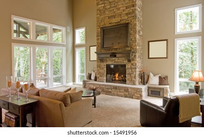 Beautiful Spacious Living Room in New Home