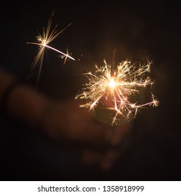 Beautiful sparkler make orange and warm light, celebrating on event such as new year eve, birthday, wedding and Christmas.