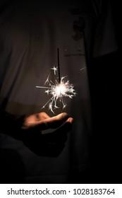 beautiful sparkles in the dark