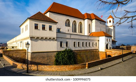 Beautiful spilberk castle dating from the thirteenth century in Brno, Czech Republic, Moravia