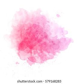 Beautiful splash of watercolor
