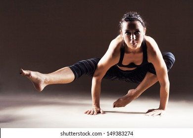 Beautiful sporty woman is working out