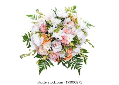 beautiful spring bouquet isolated on white