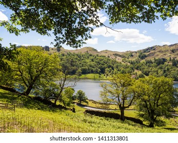Beautiful spring day at Rydal water and Grasmere, Cumbria, UK