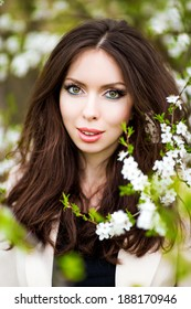 Beautiful Spring Girl with flowers