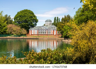 A beautiful spring landscaper in an English park in Wolverhampton