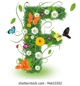 """Beautiful spring letter """"F"""""""