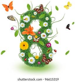 "Beautiful spring number ""8"""