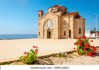Beautiful St. Georgios Church, Basilica & Rock Tombs, Cape Drepanon, North of Coral Bay, Near Pegia Village, Paphos, Cyprus