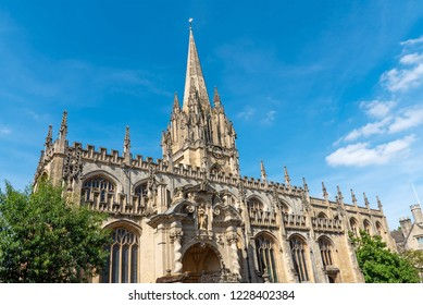 The beautiful St Mary the Virgin church in Oxford, England