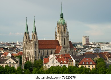 The beautiful St. Pauls Church in Munich, a parish church close to the well-known Theresienwiese