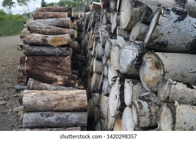 A beautiful stack of wood for burning.