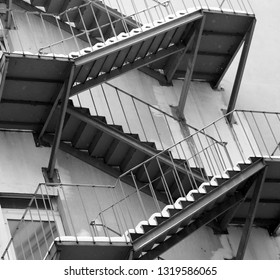 beautiful staircase on the house photographed close-up