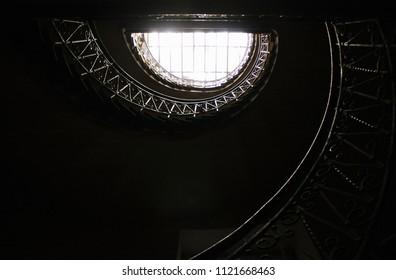 Beautiful staircases in Lviv, Ukraine