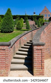 Beautiful stairway in the public park of Abbey Kamp, Germany