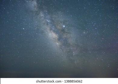 Beautiful starry sky of Shikoku karst in Japan
