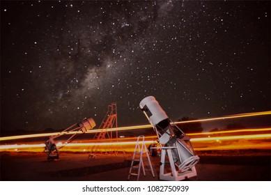 Beautiful stars with telescope