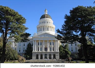 Beautiful state capitol building in Sacramento, California