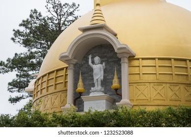 Beautiful statue at Truc Lam monastery, Dalat