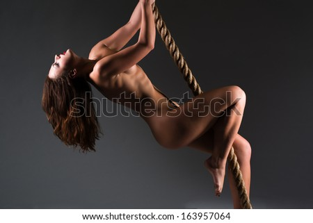 Consider, what Statuesque naked brunette Amazingly!