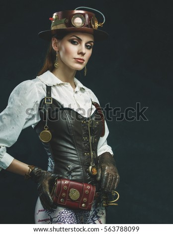 0d2055c918e Beautiful Steampunk Girl Hat Eyewear Victorian Stock Photo (Edit Now ...