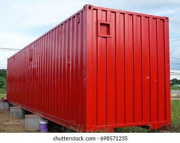 Beautiful steel container with blue sky