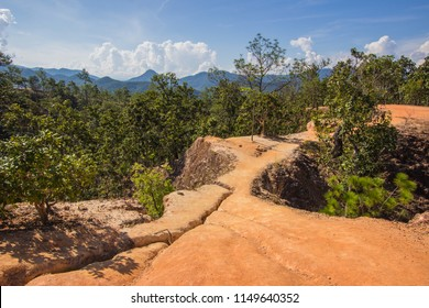 Beautiful steep cliffs,deep valleys and pine forests at Kong Lan (Pai Canyon) in Pai,Mae Hong Son province,Northern Thailand