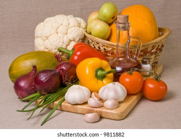 Beautiful still-life with vegetables.