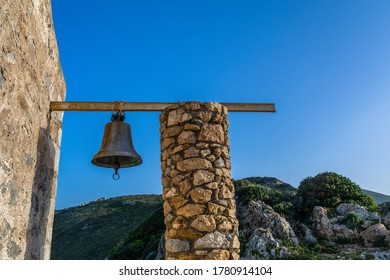 Beautiful stone chapels in the land of Mani Peninsula, Peloponnese, Greece. Stone chapels in the mainland on Mani Peninsula, Greece