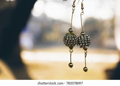 Beautiful stone studded earrings