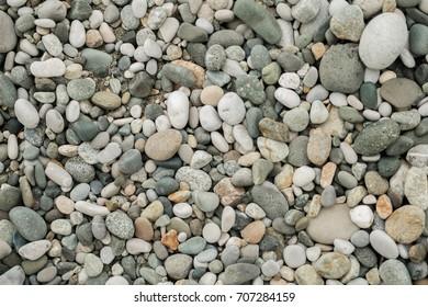 beautiful stony and pebble beach in sunny Abkhazia