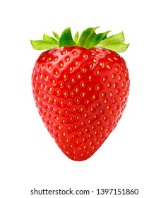 Beautiful strawberry isolated on white background. Studio shot of berry.