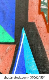 Beautiful street art graffiti. Abstract creative drawing fashion colors on the walls of the city. Urban Contemporary Culture