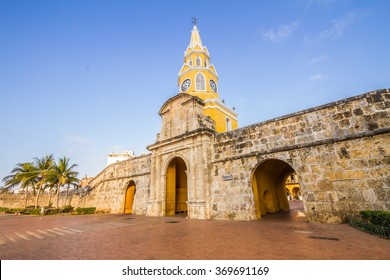 Beautiful street at Cartagena de Indias Colombia