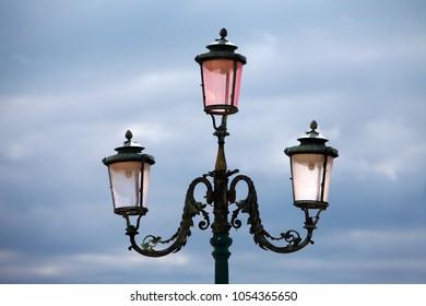 beautiful street lamp