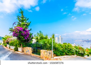 Beautiful street view in Bodrum Town of Turkey