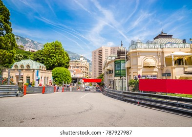 Beautiful streets and old luxury buildings of Monte Carlo, Monaco