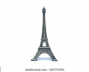 Beautiful Stylish Eiffel Tower of France Europe Model Statue Toys in White Isolated Background