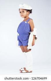 Beautiful stylish little girl