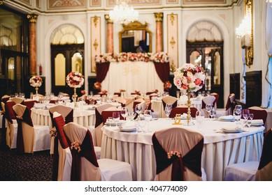 Beautiful stylish luxury decoration in restaurant