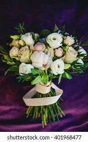 Beautiful stylish rose bouquet for bride