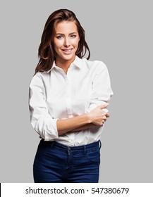 Beautiful successful woman portrait